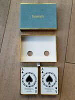Vintage Tiffany & Co Playing Cards 2 Decks Winter Holiday Original Velvet Box