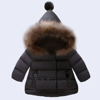 Chirstmas Baby Girl Winter Coat Jacket Down Thickening Fur Collar Jacket Parka