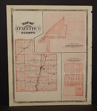 Indiana Fayette County or Engravings 1876 Reverses Special Price! K15#77