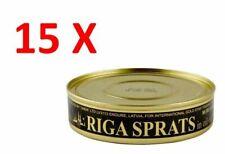 15X Riga Sprats Smoked in Oil 250g