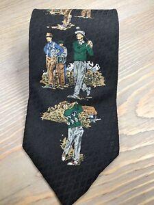 Claybrooks 100% Silk Men's Novelty Golf Tie Free Shipping A3