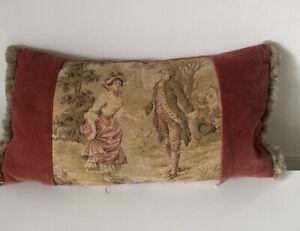 Vintage French Inspired Velvet Tapestry Style Cushion