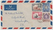KUT: 1938-54 KGVI 10c, 25c, 30c & 40c on 1952 airmail cover to the UK ST191