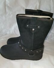 NEW IN BOX UGG KIDS  MOTO SHORT BLACK  SIZE 6 Youth and 7.5/8 Women
