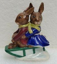 Vintage Royal Doulton Bunnykins Billie Buntie Figurines Sleigh Ride Bunnies