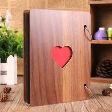 Wooden Photo Album Our Adventure Book Memory DIY Anniversary Scrapbook Memory