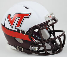 Virginia Tech Hokies Riddell SPEED Mini Helmet - White Effect