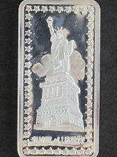 1973 Hamilton Mint Statue Of Liberty HAM-416 Silver Art Bar D3979
