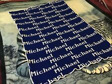 Personalized Knit Blanket Lap Throw