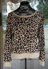 Long Sleeve Leopard Print Light Weight Sweatshirt Top Sz. L Juniors