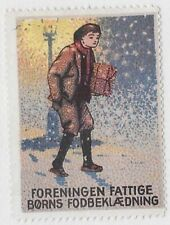 Denmark 1930s Charity Poster Stamp: Footwear for the Poor Association - cw67.34