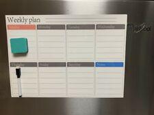 165 X 12 Magnetic Refrigerator Calendar White Dry Erase Board Week Planner