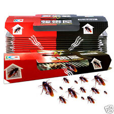 10Pc Non-Toxic Effective Cockroaches Sticky Trap House Cockroach Bait Killer Box
