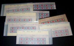 U.S. #C23 MInt NH Plate Strips of 10 - 1938 6c Eagle ($115)