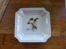 Vintage Otagiri Japan Mallard Duck Plate Trinket Tray Gold Color Trim