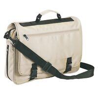 Beige Messenger Satchel Briefcase Work College School Utility Shoulder Bag