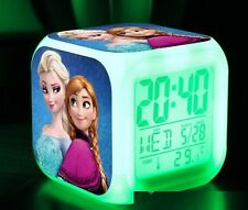 7 LED Colors Digital Clock Frozen Anna and Elsa with Thermometer
