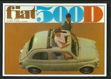 Fiat 500 D - riproduzione su cartolina di pubblicità d'epoca