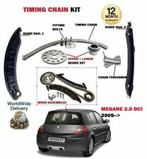 FOR RENAULT MEGANE 2.0 DCI DIESEL 2005--> TIMING CAM CHAIN KIT WITH GEARS