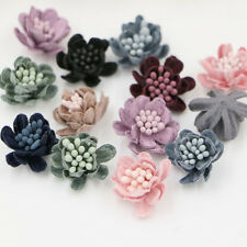 15pcs Small Daisy flowers with Stamen DIY supplies Hair Accessories craft flower