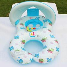 Baby Swimming Accessories Inflatable Seat Float Sunshade Cartoon Circle Ring