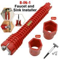"1 × 10.24"" Multifunctional Faucet & Sink Installer Wrench Tools Pipe U6U4"