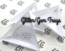 Nail Art Glitter Gem Trays x3