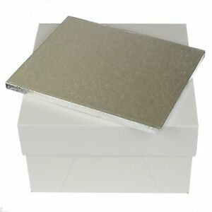 """12 x 10 """" rectangle cake board drum and 12 inch square cake box FAST DESPATCH x1"""