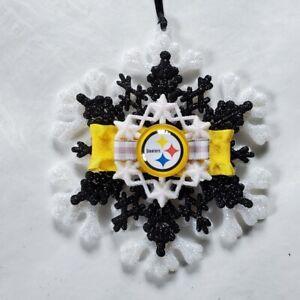 Pittsburgh Steelers Ornament NFL Football Snowflake Steelers Souvenir Christmas