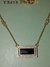 "14k Gold Clad Necklace 16""-18""-20&#034 ; New Judith Ripka Blk Spinel & Diaminque"