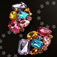 Wedding Bridal Fashion Diamante Crystal Shoe Clip Party High-Heel Multicolor
