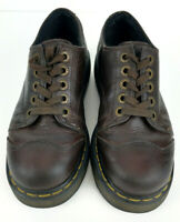Dr. Doc Martens 8651 Brown Leather Cap Toe Chunky Casual Oxfords Women's US 6