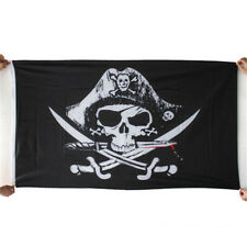 3x5 FT Skull and Cross Crossbones Sabres Swords Jolly Roger Pirate Flags Hot A