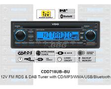 12 Volt Bluetooth PKW Auto Radio RDS & DAB Tuner CD MP3 WMA USB 12V CDD718UB-BU