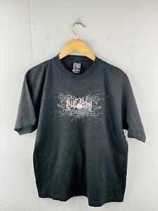 Riif Urban Mens Vintage Short Sleeve T Shirt Logo Size M Black Galapagos Ecuador