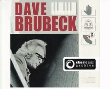 CD DAVE BRUBECK	classic jazz archive	 2005 2CD NEAR MINT (B5521)