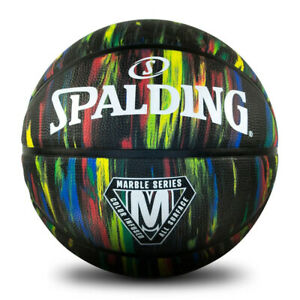 Spalding Marble - Black Edition Basketball Size 7 For Indoor/Outdoor