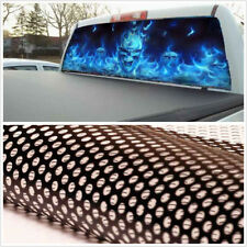 53''x14'' Car Pickup SUV Rear Window Back Windshield Flaming Skull Decal Sticker