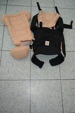 Ergobaby Bundle of Joy Black Caramel Baby Carrier 3 Way Sling + Newborn Insert