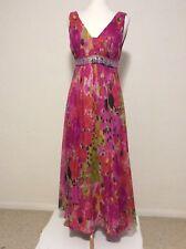 Bang 12 Long Multi Colour Silk Chiffon Party Dress