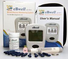 Blood Glucose Monitoring System Machine Test Strip Kit Meter Diabete Sugar ebwel