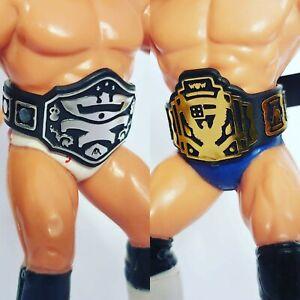 Belts for WCW WWF Hasbro Galoob Mattel Retro Figures - 1xU.S  1x TV/85  WFW