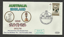 AUSTRALIA v ENGLAND ASHES 2002/03 SERIES 1st TEST MATCH BRISBANE COVER