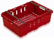 5 New Red Stack Removal Storage Crate Box Container 35L