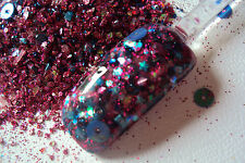 glitter mix acrylic gel nail art  BLUE RASPBERRY  limited edition 13 made