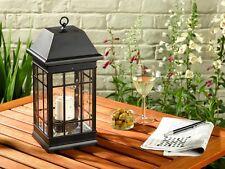 Seville Outdoor Garden Solar Powered Lantern Light Patio Lighting Ornament