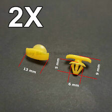 2X Weatherstrip Seal Clips, Rubber Door Seal Clips for VW, Skoda