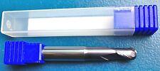 1 x VHM MEULEUSE BOULE 6 MM-Z=2 LONGUEUR TOTALE 57 mm TIALN-RECOUVERT