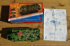 VINTAGE PALITOY ACTION FORCE , ATC APC TROOP CARRIER BOXED WITH INSTRUCTIONS.
