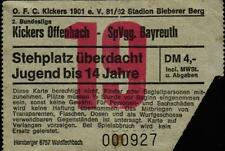 Ticket II. BL 81/82 Kickers Offenbach - SpVgg Bayreuth, 25.08.1981